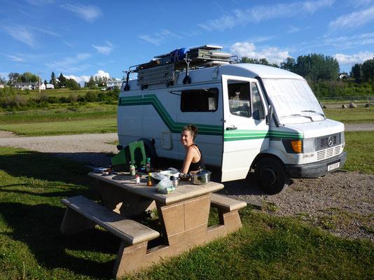 schöner freier Camping am Fraser Lake