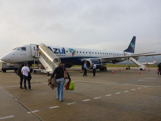 Unser Flugzeug von Azul Air