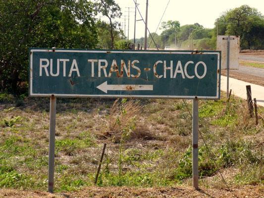 Wir sind auf der Trans-Chaco Route unterwegs