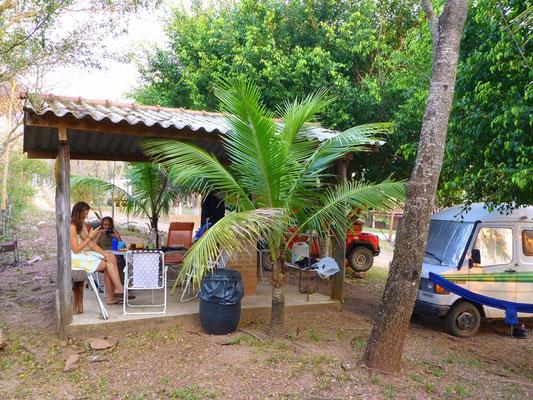 Unser gemütliches Camp am Rio Formoso