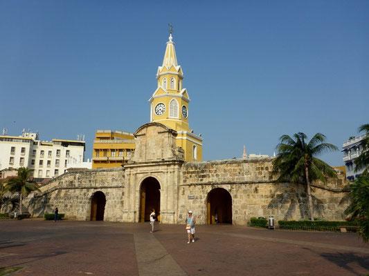 Eingang in die schöne Altstadt von Cartagena