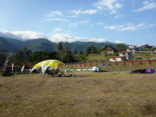Unser Camp am Lago Calima