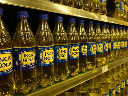 Nicht Coca Cola sondern Inka Cola wird in Peru getrunken