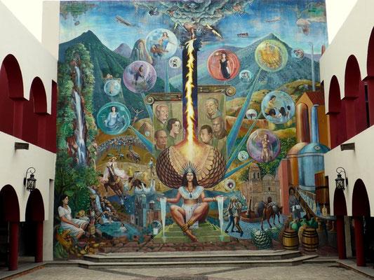 Wandmalerei am Gemeindehaus