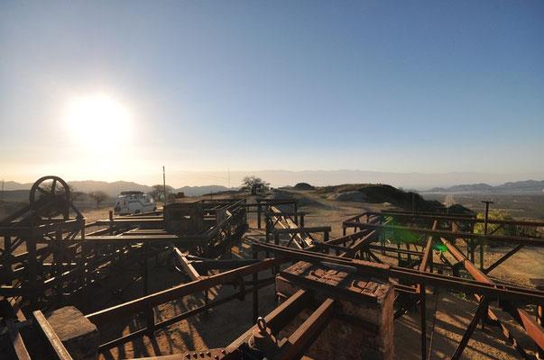 Drahtseilbahn zu den Minen von La Mejicana