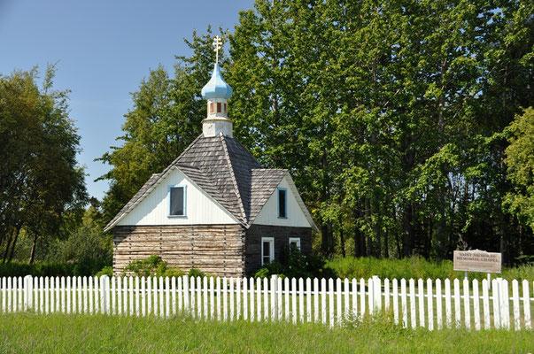Eine kleine Totenkapelle aus der russischen Zeit