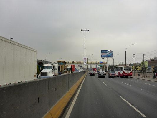 Die Stadt bricht unter dem Verkehr zusammen...