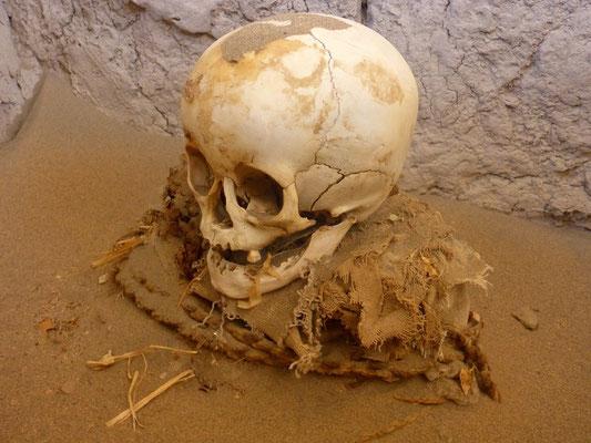 Totenschädel auf dem Gräberfeld von Chauchilla