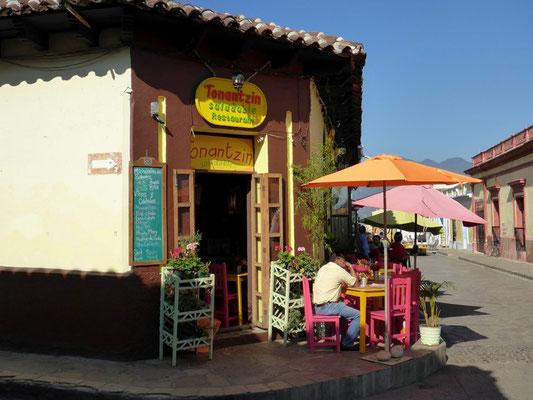 Gemütliches Strassenkaffee in San Cristobal
