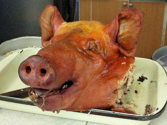 Gebratenes Schwein, das Nationalgericht