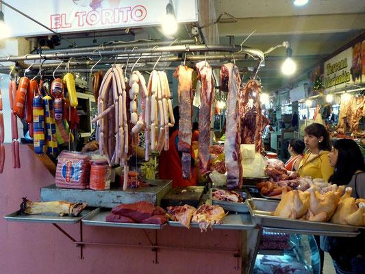 Fleischmarkt in Cuenca