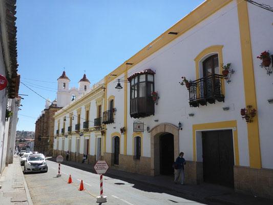 Alte koloniale Gebäude in Sucre