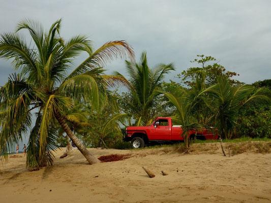 Mit dem Pick-up bis an den Strand