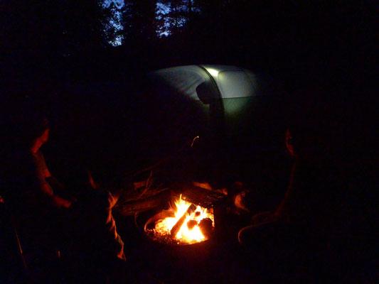 Lagerfeuer dürfen nicht fehlen