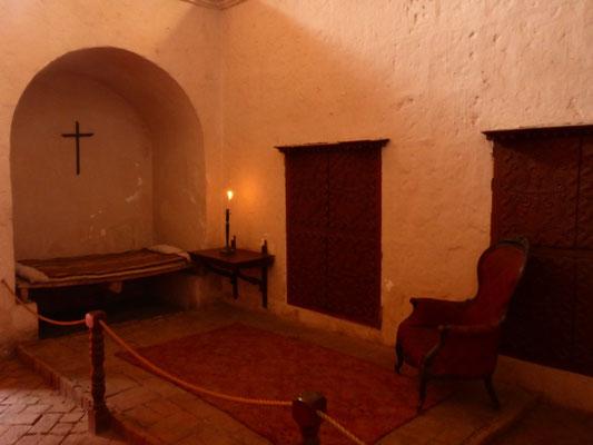 Eine Zelle im Kloster Santa Catarina