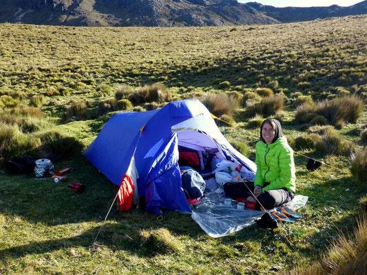 Unser Schlafplatz an der Laguna Tres Cruzes