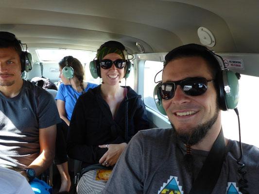 Wir in der Luft!