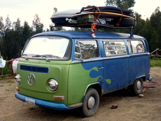 Der schöne VW-Bully von Chris und Sandra