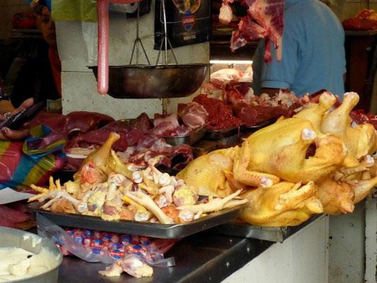 Fleisch - das schauen wir auf dem Markt nur an