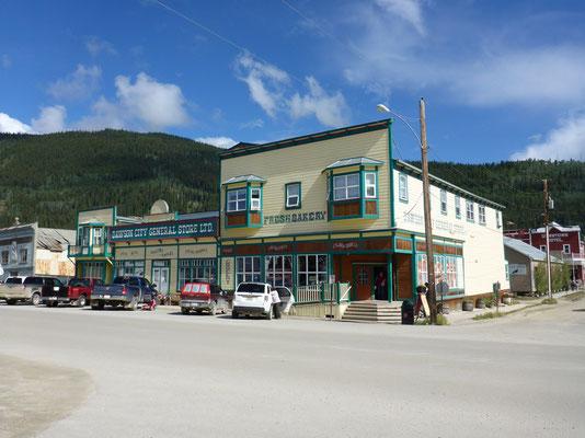Der Lebensmittelladen in Dawson City ist der Mittelpunkt des Ortes