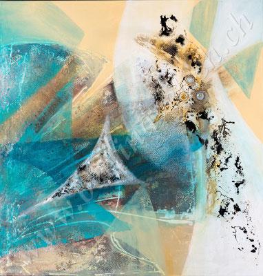 Venus, Acryl Collage, 100x100, verkauft