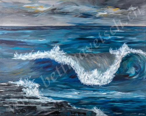 Wilder Atlantik, Acryl, 150x120