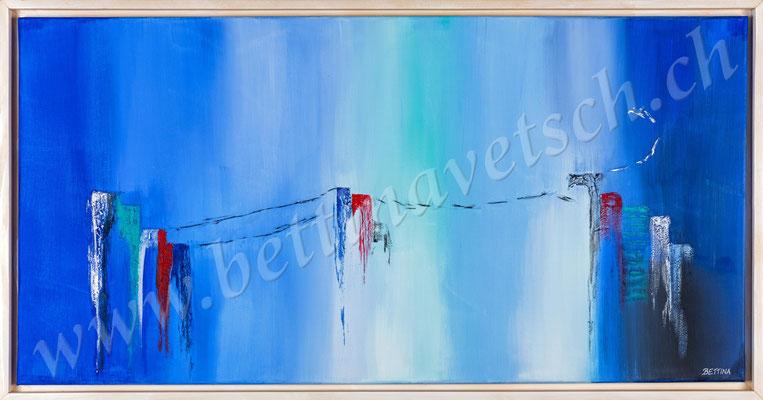 Hochspannung, Acryl, 100x50 mit Schattenfugenrahmen
