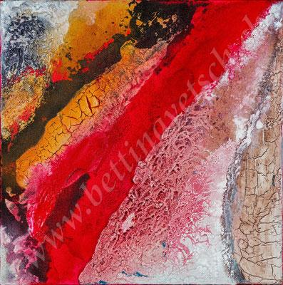 Vulkan, Naturpasten & Acryl, 50x50