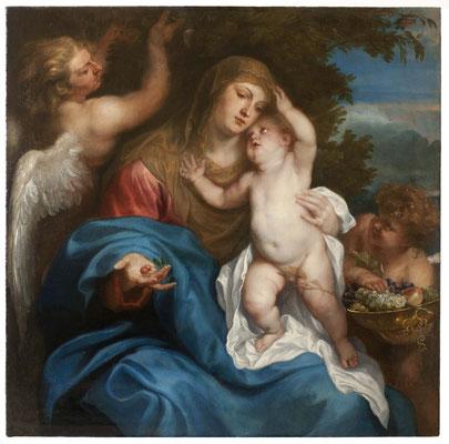 Virgen con niño y ángeles. Antoon van Dyck Hacia 1626 - 1632