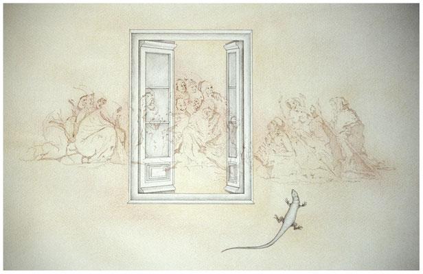 Ilustración Sala de la Plancha. Casa de Alba. Aranjuez. Madrid