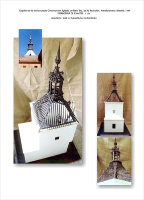 Estructura chapitel. Iglesia de Ntra. Sra. de la Asunción. Navalcarnero