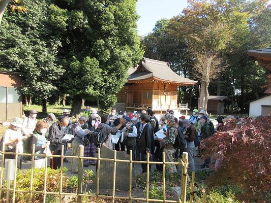 古淵鹿島神社  新田義貞が鎌倉攻めのおり祈願のために建立した、渡辺義博の子、義喬が建立したとの言い伝えがあります。
