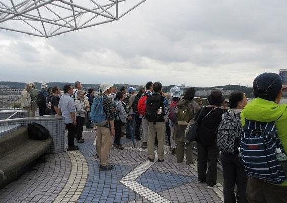野島展望台  野島は、横浜市最南部平潟湾入口の島です。  歌川広重に描かれた「野島夕照」で有名。  海抜57mの展望台は、天気が良ければ富士山、房総半島等、360度のパノラマです。最寄りでは称名寺も見えます。