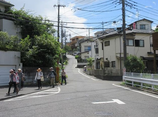 推定古代東海道の大坂  現在も非常に急な坂道が残る。  富沢家の東側を登る坂道の名。