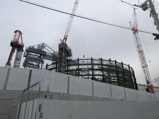 青山学院大学町田グランド横 リニア新幹線小野路非常口の工事現場。