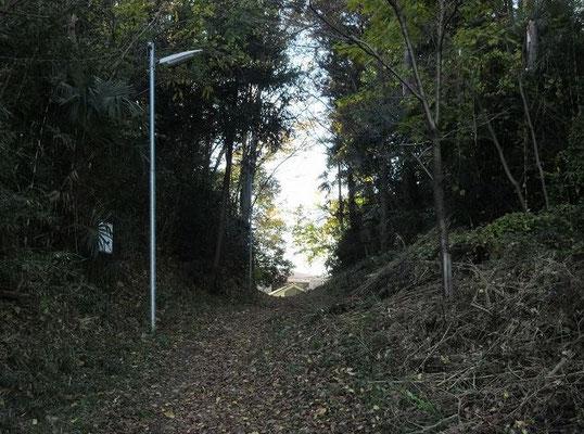 日枝神社・切り通し 明治17年頃に「切り通し」が造られた。