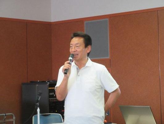 宮田団長による講演会開始の挨拶。