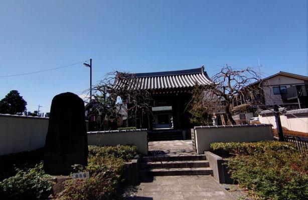 高台の高西寺、これから少しずつ下って行きます。