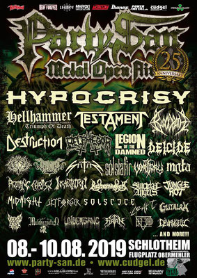 Party San Open Air 2019 Livestream Belphegor, Firtan, Gutalax, Incantation, Rotting Christ, Undergang, Vomitory u. a.