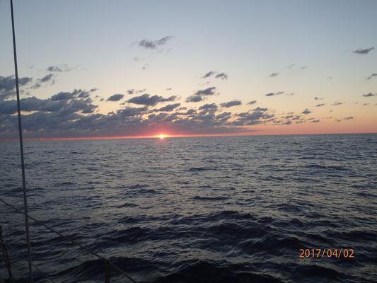 nach einem Tag Wunderschöne Sonnenuntergänge