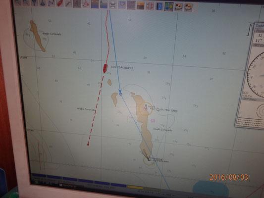 Ansicht auf der Seekarte Insel Los Coronados