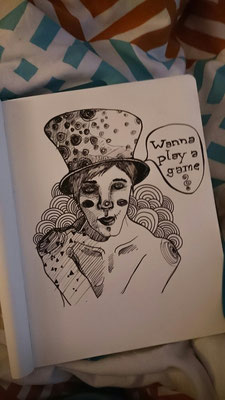 Tag 56: Wanna play a game? Illustration aus Hamburg!