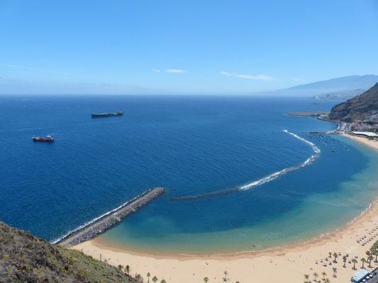 der Teresitas-Strand von oben