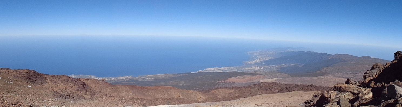 Blick vom Teide nach unten