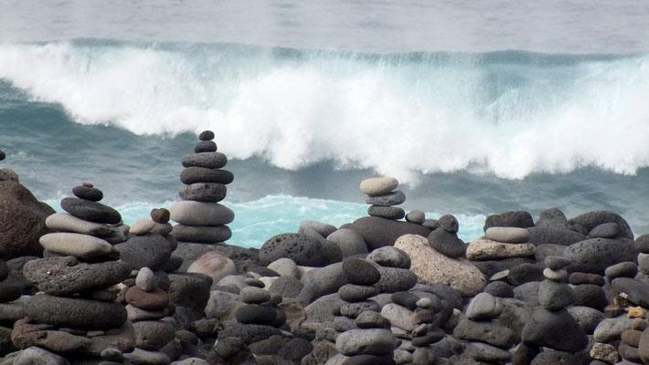 Steinlandschaft am Playa Jardin