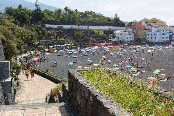 am Playa Jardin in Puerto de la Cruz