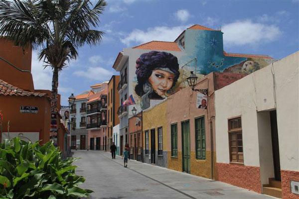 Wandmalerei in Puerto de la Cruz