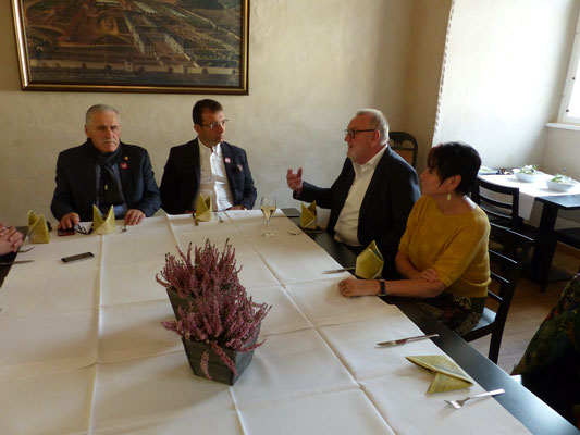 Treffen mit dem Bürgermeister von Lichtenau, Josef Hartmann