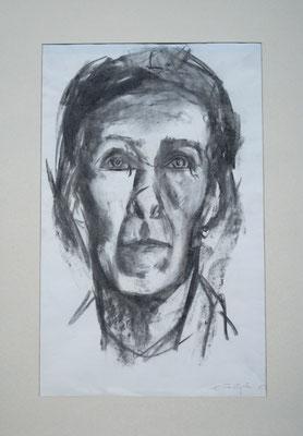 Elle Hoffmann, 1963, Kohlezeichnung, 44 x 32 cm (#863)