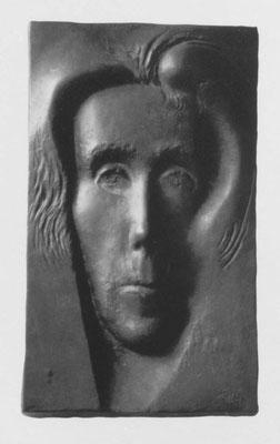Porträt Elle Hoffmann, 1965, Relief, Bronze, 54 x 32 cm (#244)